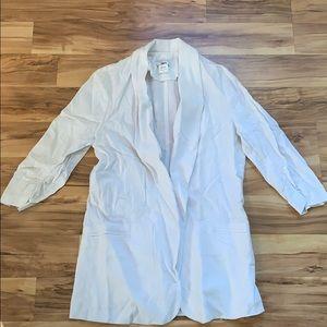 bar lll open front linen blazer.